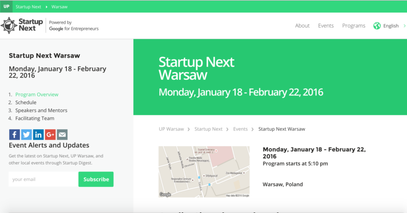 start up next warsaw