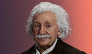 Virtual version of Albert Einstein (Image credit: UneeQ)