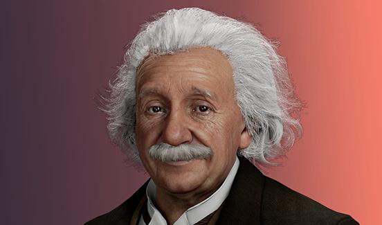 Virtual version of Albert Einstein (Image credit: UneeQ)