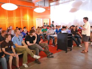 Co-founder Paul Graham talking about Prototype Day at Y Combinator Summer 2009 (Image source: Wikipedia)